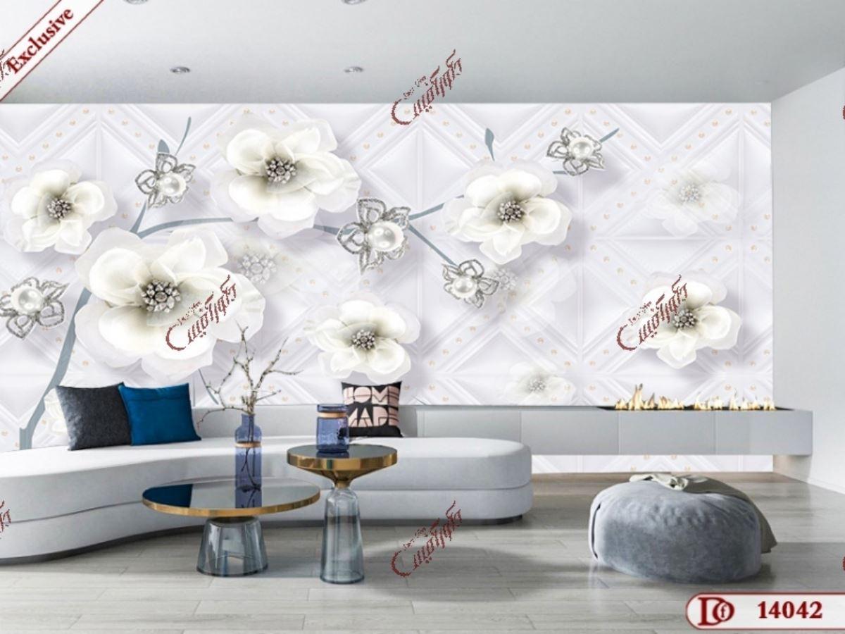 پوستر دیواری گل سه بعدی
